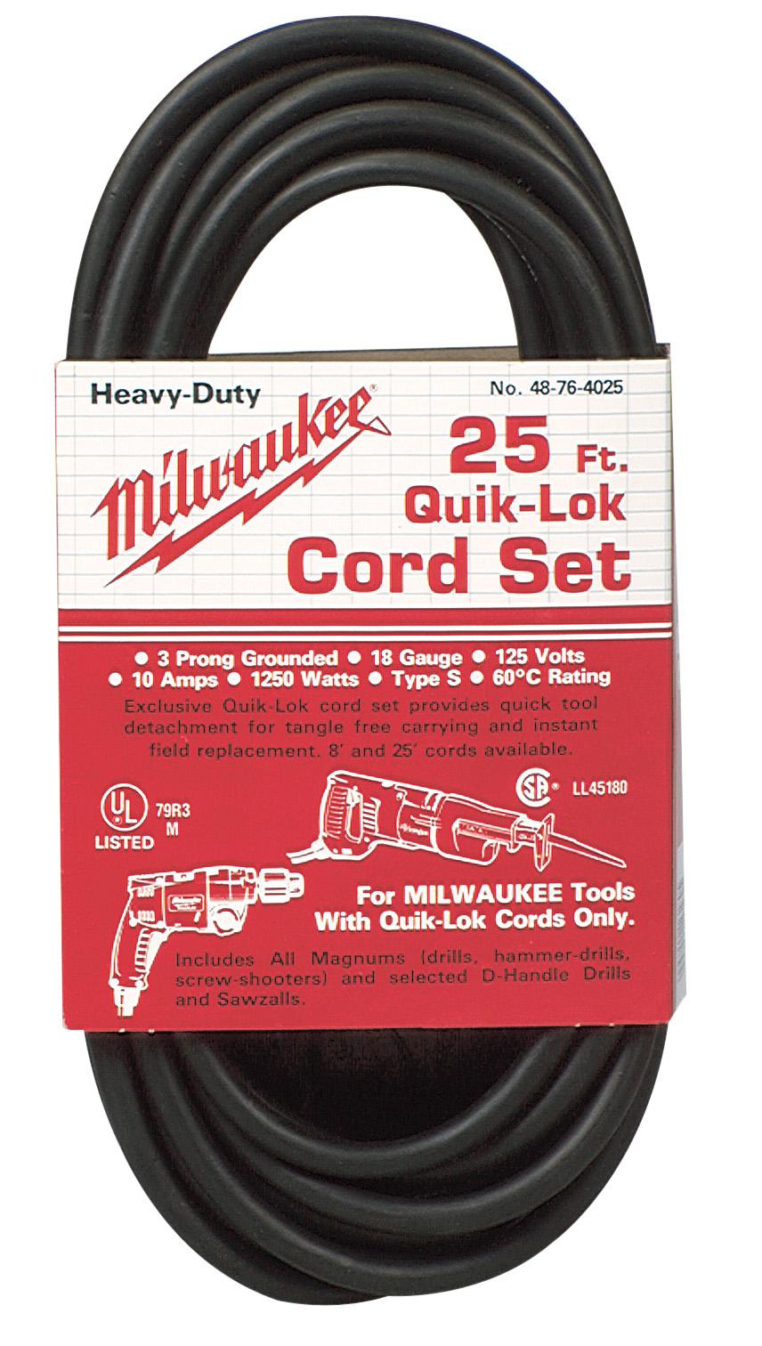 25 ft. 3-Wire Quik-Lok Cord