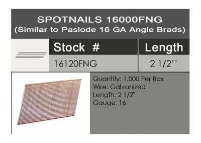 2-1/2-Inch 16-Gauge Angled Finish Nails