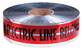"""6"""" MAGNATEC® Premium Detectable Caution Electric Line Below Tape"""