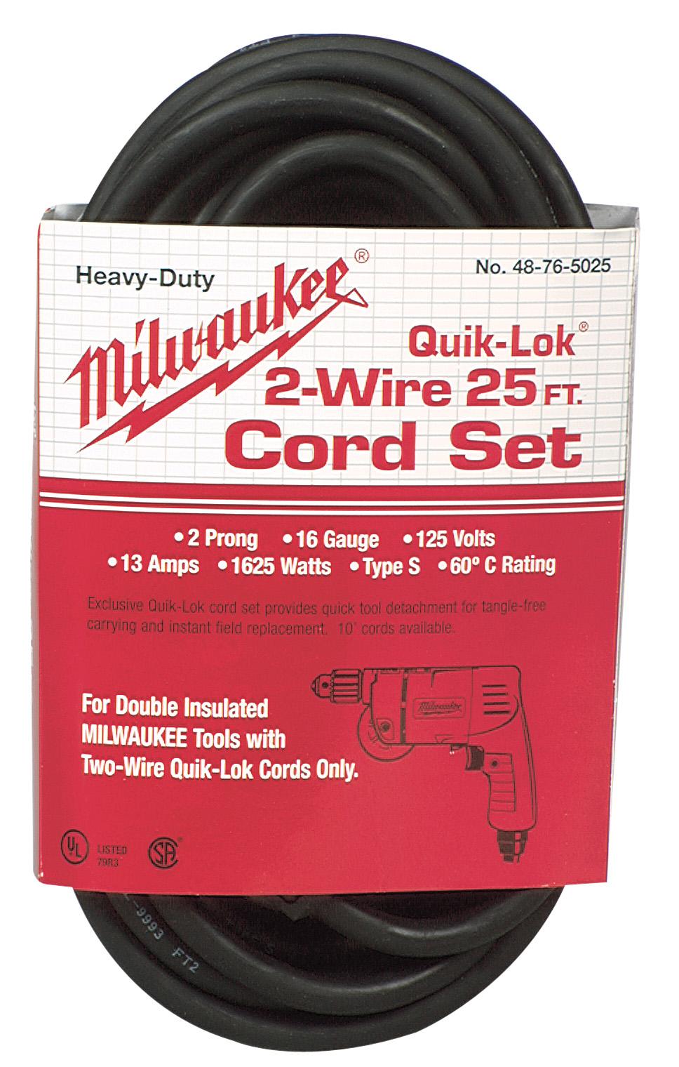 25 ft. 2-Wire QUIK-LOK Cord