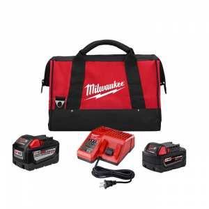 Milwaukee M18 REDLITHIUM 9Ah and 5Ah Battery Starter Kit
