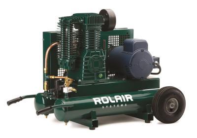 5 HP (230V), 18.8 CFM@90PSI, 9 Gall Twin Tank Constant-Run Compressor