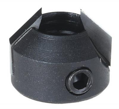 20-Millimeter Outside Diameter by 10-Millimeter Inside Diameter Left Turn Carbide Tipped Counter Sink for Spindle Boring