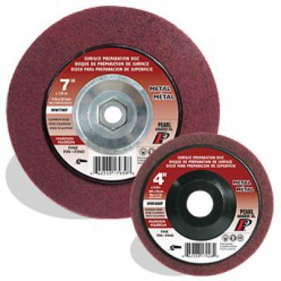 7 x 5/8-11 AO Maroon Surface Preparation Wheel, Fine Grit, 10/Box