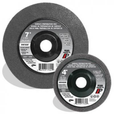 7 x 5/8-11 SC Grey Surface Preparation Wheel, Super Fine Grit, 10/Box