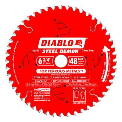 6-3/4 in. x 48 Tooth Steel Demon Metal Cutting Saw Blade