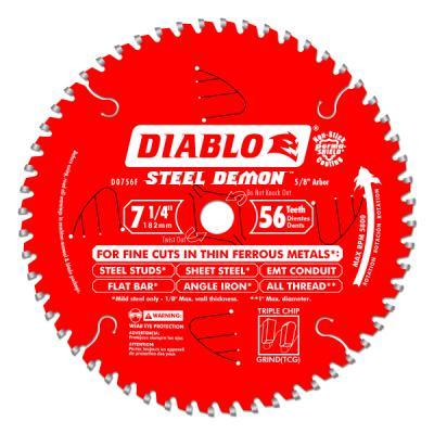 7-1/4 IN. x 56 tooth Steel Demon Metal Cutting Saw Blade