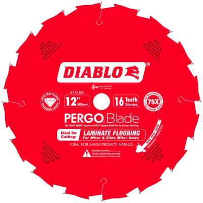 12 in. x 16 Tooth (PCD) Laminate Flooring PERGOBlade