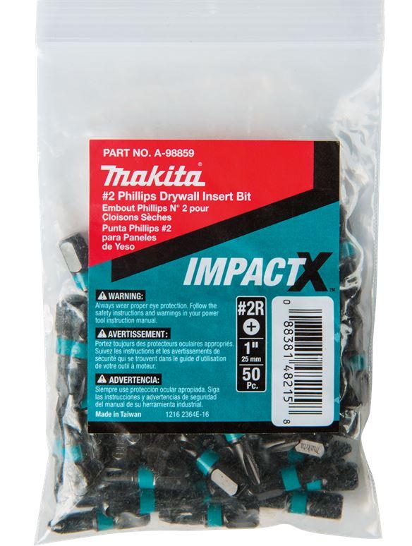 ImpactX™ #2 Phillips Drywall 1″ Insert Bit, 50/PK, Bulk