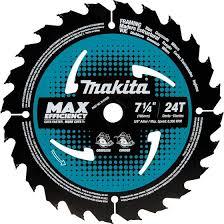 "7‑1/4"" 24T Carbide‑Tipped Max Efficiency Circular Saw Blade, Framing, 10/pk"