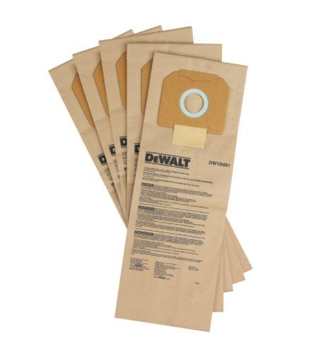 PAPER BAG (5 PACK) FOR DEWALT DUST EXTRACTORS